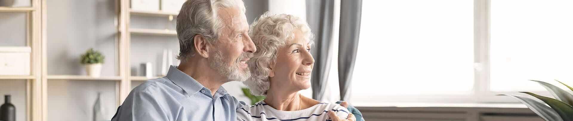 Seniorenpaar erbt